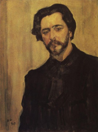 A portrait of the writer Leonid Andreyev