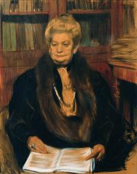 Борис Михайлович Кустодиев. Портрет писательницы А. В. Шварц