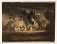Джозеф Мэллорд Уильям Тёрнер. Старуха на кухне в коттедже