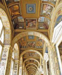 Роспись потолка лоджии Рафаэля дворца понтифика в Ватикане
