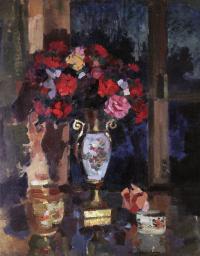 Konstantin Alekseevich Korovin. A bouquet of paper roses