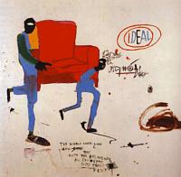 Jean-Michel Basquiat. Light blue movers