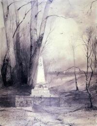 Алексей Кондратьевич Саврасов. Могила Пушкина в Святогорском монастыре