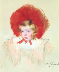 Мэри Кассат. Ребенок в красной шляпе