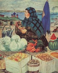 """Торговка овощами. Из серии """"Русь. Русские типы"""""""
