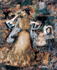 Филипп Андреевич Малявин. Автопортрет с женой и дочерью