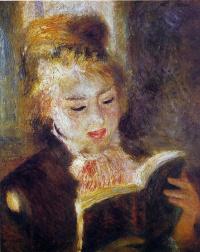 Пьер Огюст Ренуар. Девушка читающая книгу