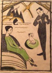 Дизайн плаката для выставки Габриель Мюнтер в Копенгагене