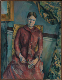 Portrait of Madame Cezanne in a yellow chair