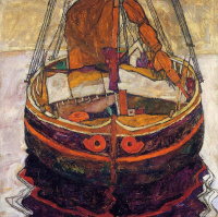 Egon Schiele. Fishing boat in Trieste