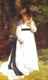 Лиза с зонтиком