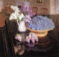 Lilac and forget-me-nots