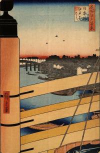 """Мост Нихонбаси и мост Эдо-баси. Серия """"100 знаменитых видов Эдо"""""""