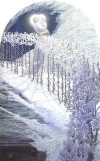 Мадонна лилий.  1899   деталь