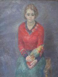 Роберт Рафаилович Фальк. Девушка с попугаем
