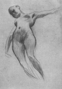 """Floating Nude (Sketch for """"Medicine"""")"""