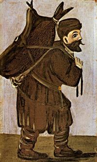 Муша с бурдюком. Левая часть диптиха
