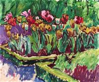 Куно Амье. Грядка в саду. Тюльпаны