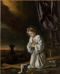 Антуан, Луи и Матье Ленен. Иисус, молящийся перед крестом
