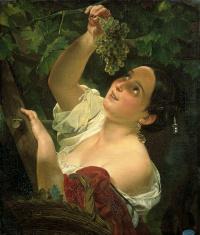 Italian midday ( Italian, removing grapes )