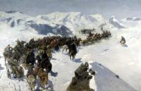 Франц Алексеевич Рубо. Переход князя Аргутинского через Кавказский хребет