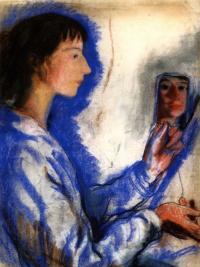 Self-portrait with mirror