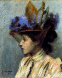 The lady in the hat