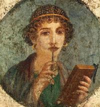 Портрет девушки, так называемая Сафо. Фреска из Геркуланума