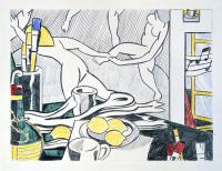 Roy Liechtenstein. The artist's Studio. Dance. Sketch