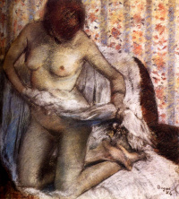 Туалет (Женщина, вытирающаяся после ванны)