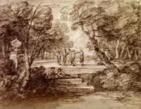 Томас Гейнсборо. Танцоры с музыкантами на лесной поляне