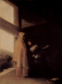 """Cycle of paintings """"the Horrors of war."""" The visit of the monk"""