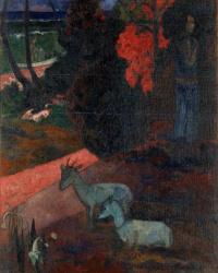 Поль Гоген. Пейзаж с двумя козами