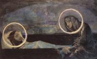 Надгробный плач (второй вариант). Эскиз к росписям Владимирского собора в Киеве