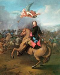 Иоганн Таннауэр. Петр I в Полтавской битве