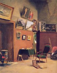 Фредерик Базиль. Студия в Рю де Фюрстенберг