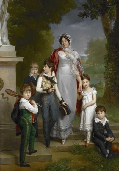 Портрет Луизы-Антуанетты Ланне, герцогини де Монтебелло с детьми