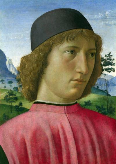 Портрет молодого человека в красном