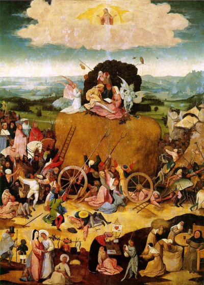 The hay-cart. The Central part of the triptych
