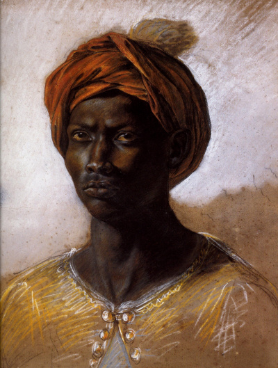 A Negro in a turban