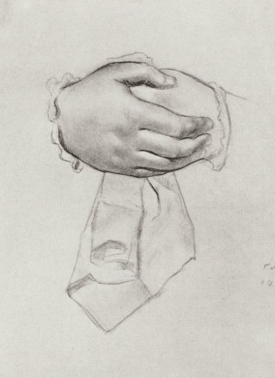 """Hand drawing for the painting """"merchant's wife"""". Sketch"""
