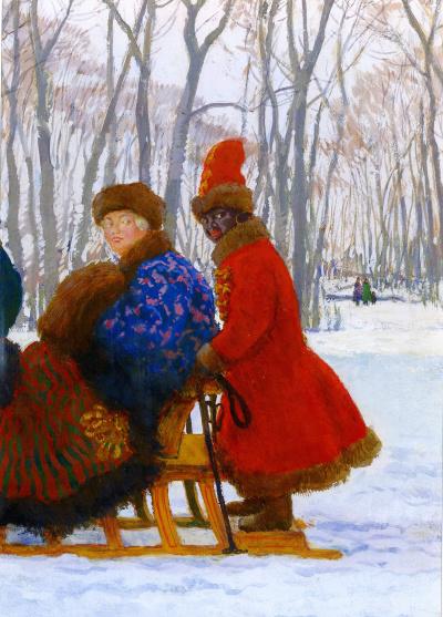 Departure of Empress Elizabeth Petrovna