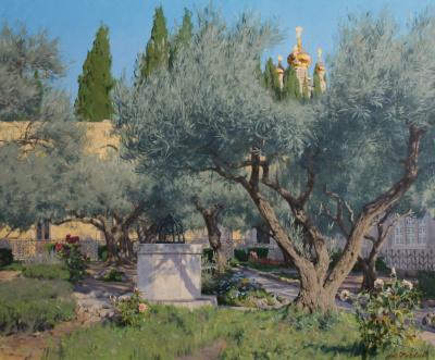 """Garden of Gethsemane"" in Jerusalem."