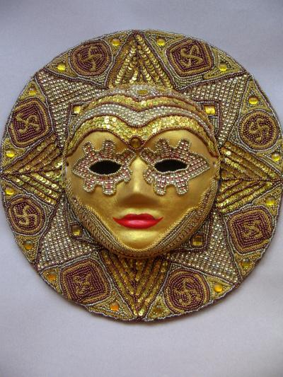 "Mask ""Golden Sun"","