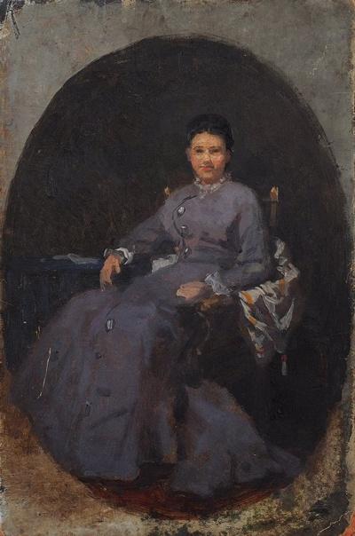 Эскиз женского портрета. 1880-е