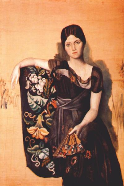 Portrait of Olga in the armchair