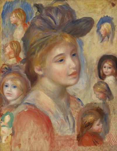 Эскизы голов девочек