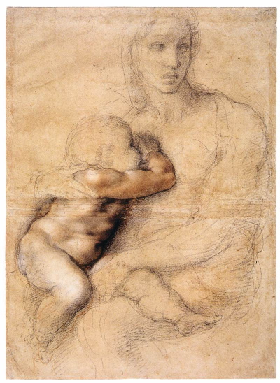 """A sketch of """"Madonna and child"""""""