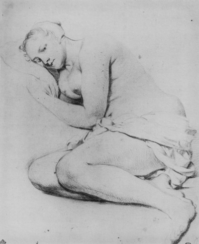 Lying Nude young woman