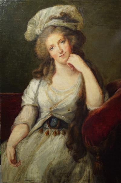 Портрет Герцогини Орлеанской Луиза-Мария-Аделиада де Бурбон